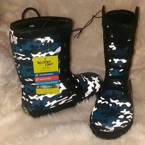 NWT Western Chief Camoflaug Snow/Rain Boots 2-3